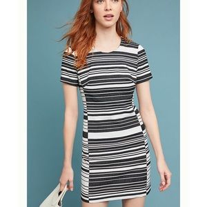 "Anthro ""Hutch"" Black Brixton Striped Dress NWOT"